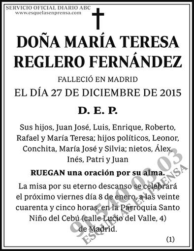 María Teresa Reglero Fernández